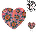 Colorful Floral Dream Playing Cards 54 (Heart)  Front - Diamond10