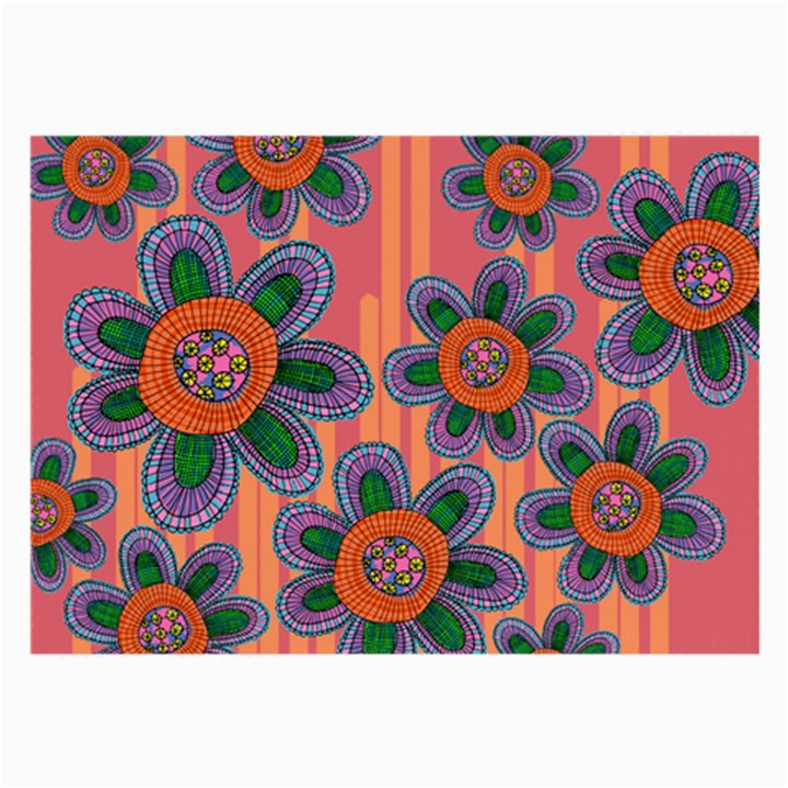 Colorful Floral Dream Large Glasses Cloth (2-Side)