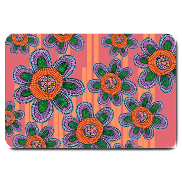 Colorful Floral Dream Large Doormat