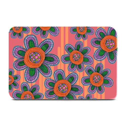 Colorful Floral Dream Plate Mats