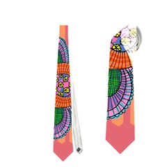 Colorful Floral Dream Neckties (One Side)