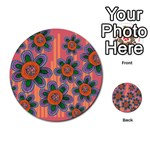 Colorful Floral Dream Multi-purpose Cards (Round)  Back 33