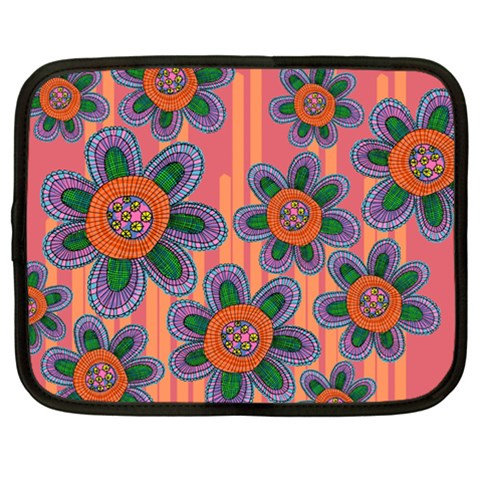 Colorful Floral Dream Netbook Case (Large)