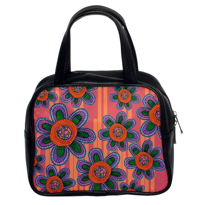 Colorful Floral Dream Classic Handbags (2 Sides)