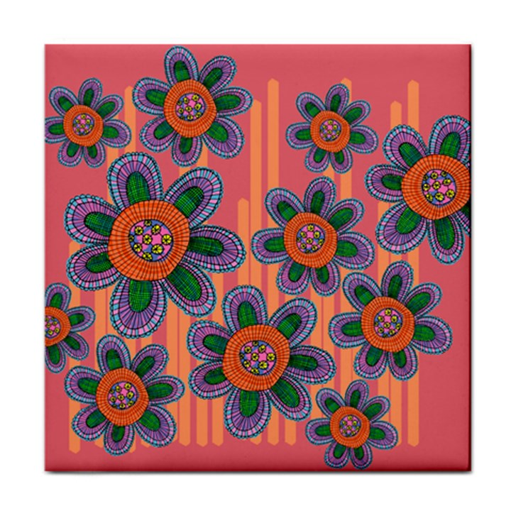 Colorful Floral Dream Face Towel