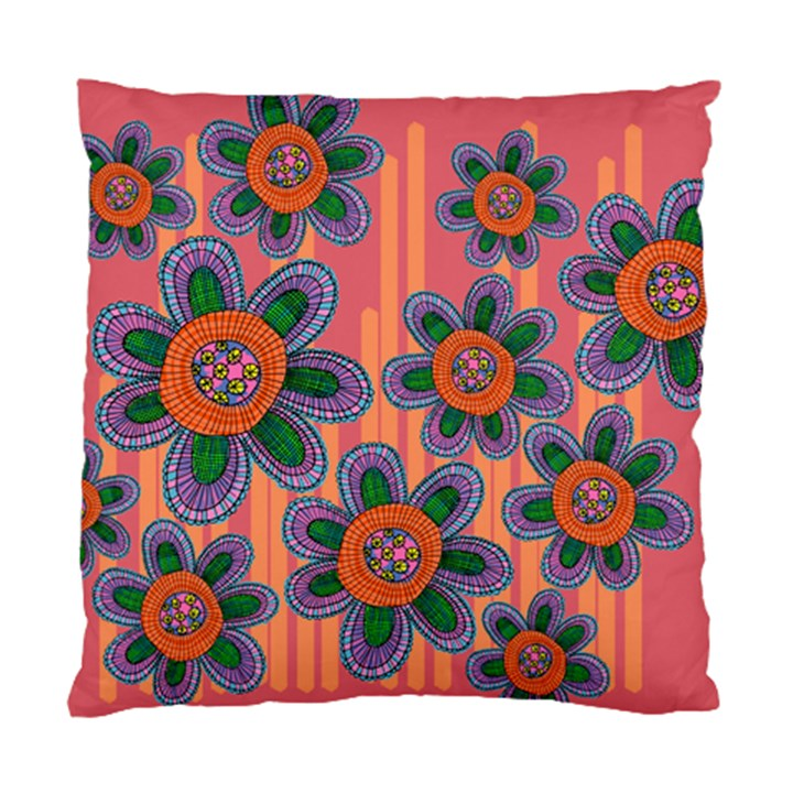 Colorful Floral Dream Standard Cushion Case (Two Sides)
