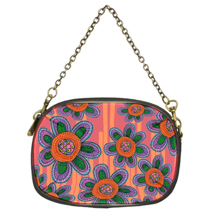 Colorful Floral Dream Chain Purses (Two Sides)