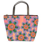 Colorful Floral Dream Bucket Bags Front