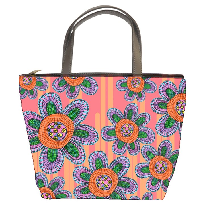 Colorful Floral Dream Bucket Bags