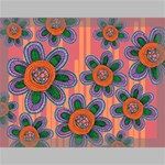 Colorful Floral Dream Canvas 16  x 12  16  x 12  x 0.875  Stretched Canvas