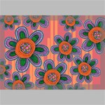 Colorful Floral Dream Canvas 18  x 12  18  x 12  x 0.875  Stretched Canvas