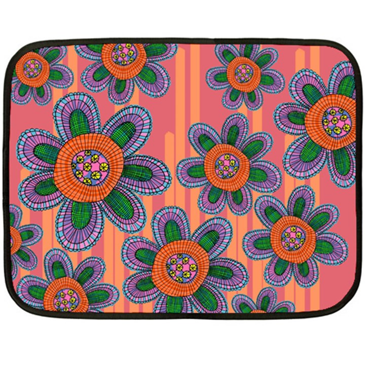 Colorful Floral Dream Double Sided Fleece Blanket (Mini)