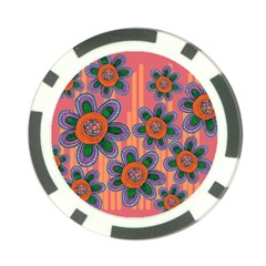 Colorful Floral Dream Poker Chip Card Guards (10 pack)