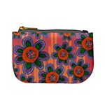 Colorful Floral Dream Mini Coin Purses Front