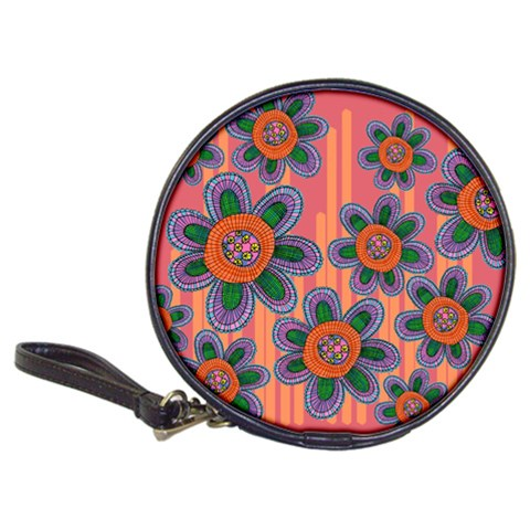 Colorful Floral Dream Classic 20-CD Wallets
