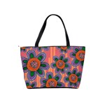 Colorful Floral Dream Shoulder Handbags Back