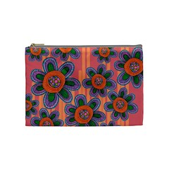 Colorful Floral Dream Cosmetic Bag (medium)