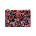 Colorful Floral Dream Cosmetic Bag (Medium)  Front
