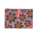 Colorful Floral Dream Cosmetic Bag (Large)  Front