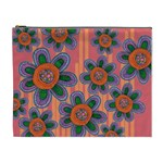 Colorful Floral Dream Cosmetic Bag (XL) Front