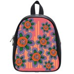 Colorful Floral Dream School Bags (Small)  Front