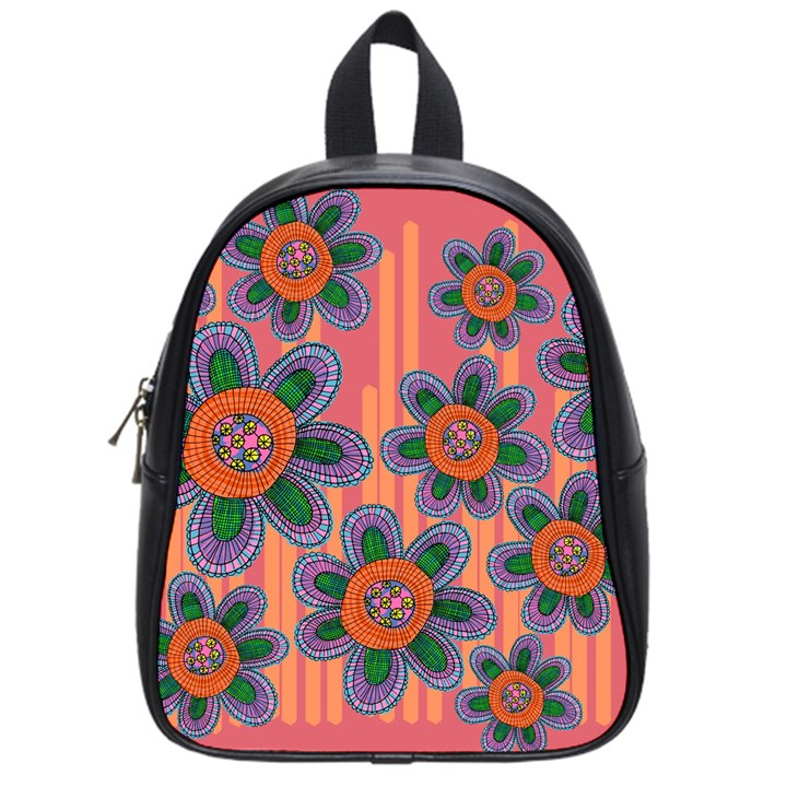 Colorful Floral Dream School Bags (Small)