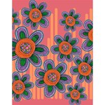 Colorful Floral Dream Large Memo Pads 4.125 x5.5  Memopad