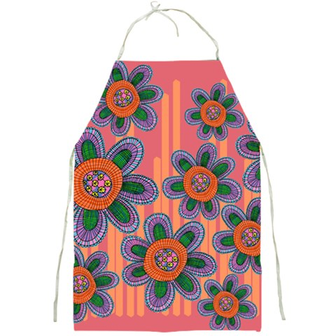 Colorful Floral Dream Full Print Aprons