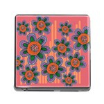 Colorful Floral Dream Memory Card Reader (Square) Front