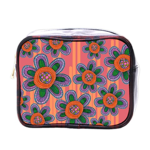 Colorful Floral Dream Mini Toiletries Bags