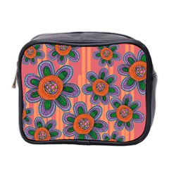Colorful Floral Dream Mini Toiletries Bag 2 Side