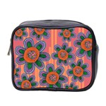 Colorful Floral Dream Mini Toiletries Bag 2-Side Front