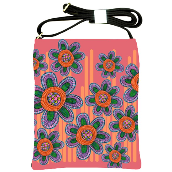 Colorful Floral Dream Shoulder Sling Bags