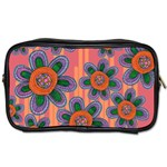 Colorful Floral Dream Toiletries Bags Front