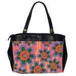 Colorful Floral Dream Office Handbags (2 Sides)  Back