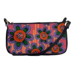 Colorful Floral Dream Shoulder Clutch Bags Front