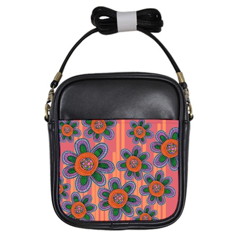 Colorful Floral Dream Girls Sling Bags