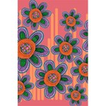 Colorful Floral Dream 5.5  x 8.5  Notebooks Back Cover Inside
