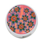 Colorful Floral Dream 4-Port USB Hub (One Side) Front
