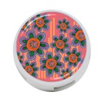 Colorful Floral Dream 4-Port USB Hub (Two Sides)  Front