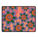 Colorful Floral Dream Fleece Blanket (Small) 50 x40 Blanket Front