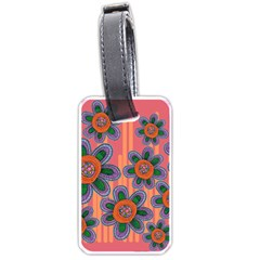 Colorful Floral Dream Luggage Tags (one Side)