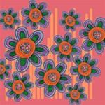 Colorful Floral Dream Magic Photo Cubes Side 2