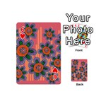 Colorful Floral Dream Playing Cards 54 (Mini)  Front - Heart6