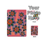Colorful Floral Dream Playing Cards 54 (Mini)  Front - Spade4