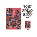 Colorful Floral Dream Playing Cards 54 (Mini)  Front - Club4