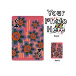 Colorful Floral Dream Playing Cards 54 (Mini)  Front - Club6