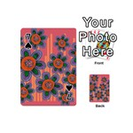 Colorful Floral Dream Playing Cards 54 (Mini)  Front - Spade7