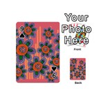 Colorful Floral Dream Playing Cards 54 (Mini)  Front - Spade9