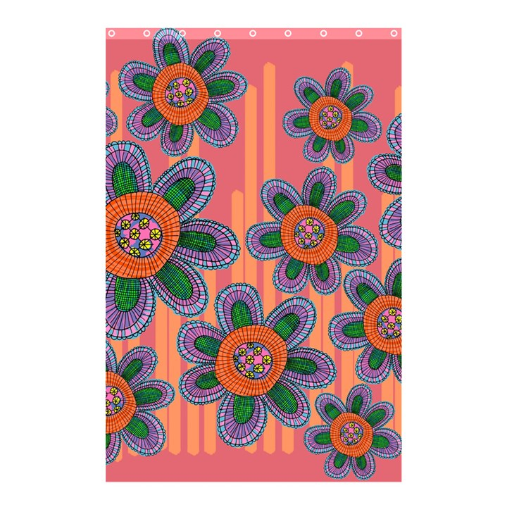 Colorful Floral Dream Shower Curtain 48  x 72  (Small)
